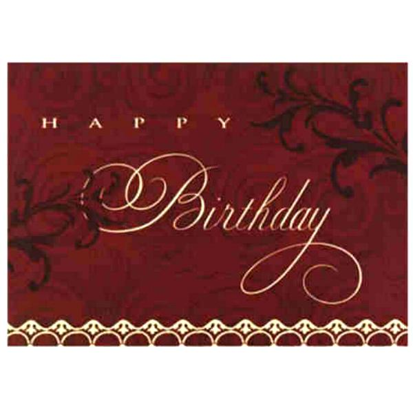 Birthday Cards Name And Logo Imprinted On Birthday Cards