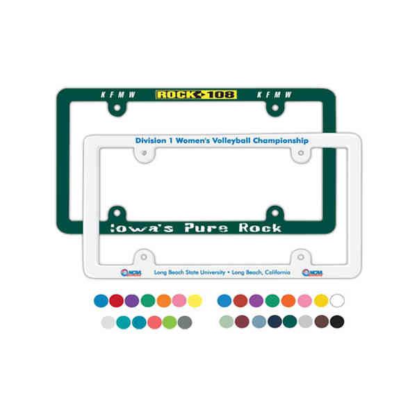 License Plate Frames - Name and Logo Imprinted on License Plate Frames